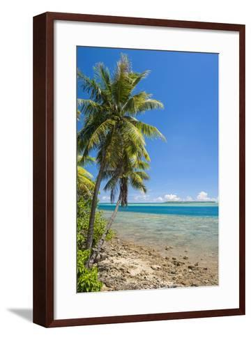 Coast around Merizo and its Coral Reef, Guam, Us Territory, Central Pacific-Michael Runkel-Framed Art Print