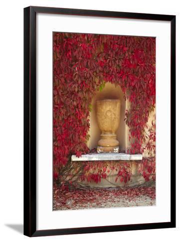 Autumn Color at the Italian Renaissance Garden, Hamilton, Waikato, North Island, New Zealand-David Wall-Framed Art Print