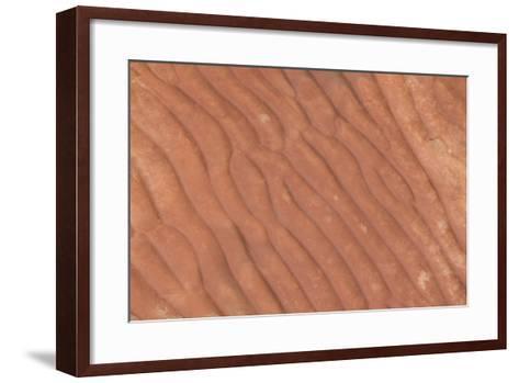Australia, Watarrka National Park. Kings Canyon, Rim Walk. Detail of Carved Stone Sea Ripples-Cindy Miller Hopkins-Framed Art Print