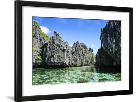 Crystal Clear Water in the Bacuit Archipelago, Palawan, Philippines-Michael Runkel-Framed Art Print