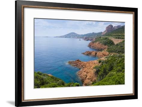 France, the Cote D'Azur, Is the Mediterranean Coastline of the Se Corner of France-Emily Wilson-Framed Art Print