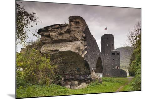Germany, Rhineland-Pfalz, Remagen, Ruins of the Bridge at Remagen-Walter Bibikow-Mounted Photographic Print