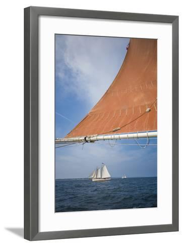 Massachusetts, Cape Ann, Annual Schooner Festival, Schooner Rigging-Walter Bibikow-Framed Art Print