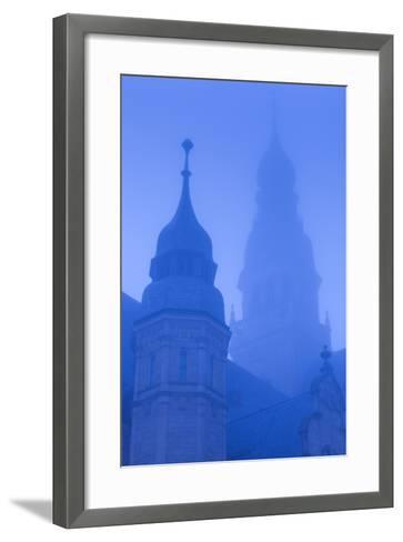 Germany, Rhineland-Pfalz, Speyer, Dom Cathedral, Dawn, Fog-Walter Bibikow-Framed Art Print