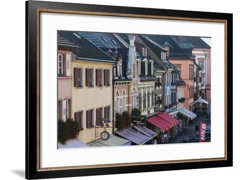 Germany, Baden-Wurttemburg, Black Forest, Gengenbach, Town Buildings-Walter Bibikow-Framed Art Print