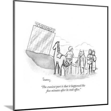 """The craziest part is that it happened like five minutes after he took off?"" - Cartoon-Benjamin Schwartz-Mounted Premium Giclee Print"