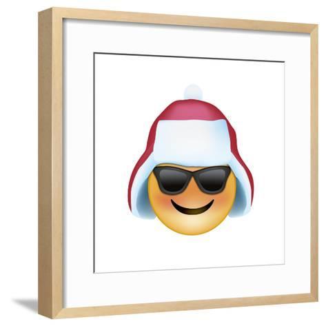 Emoji Sun Glasses Trapper hat-Ali Lynne-Framed Art Print