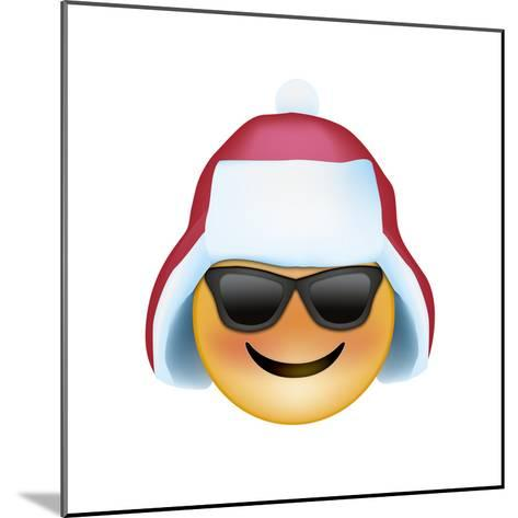 Emoji Sun Glasses Trapper hat-Ali Lynne-Mounted Giclee Print