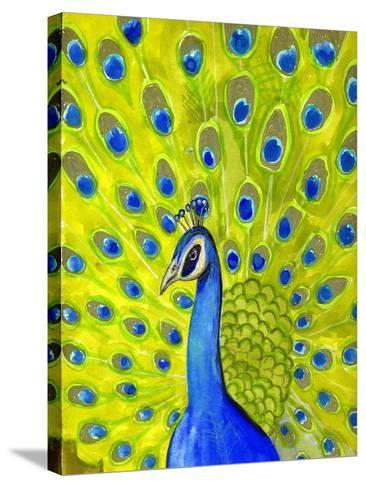 Paisley Peacock-Blenda Tyvoll-Stretched Canvas Print