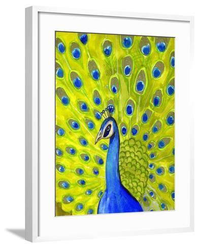 Paisley Peacock-Blenda Tyvoll-Framed Art Print