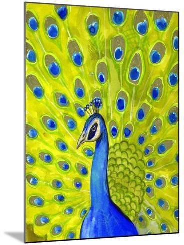 Paisley Peacock-Blenda Tyvoll-Mounted Giclee Print