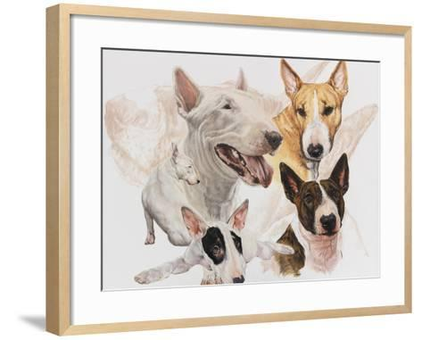 Bull Terrier with Ghost Image-Barbara Keith-Framed Art Print