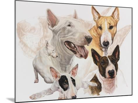 Bull Terrier with Ghost Image-Barbara Keith-Mounted Giclee Print