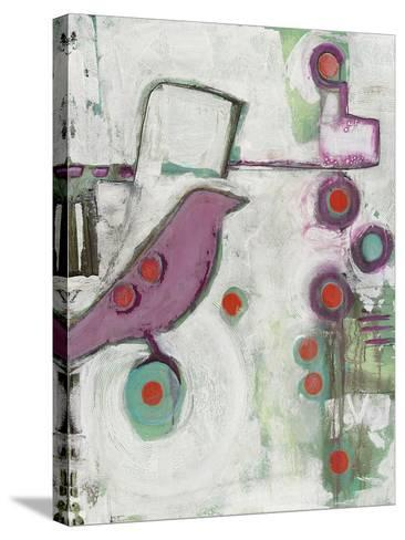 Bird on an Abstract-Blenda Tyvoll-Stretched Canvas Print