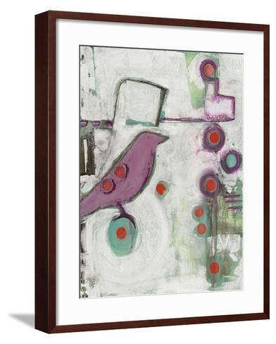 Bird on an Abstract-Blenda Tyvoll-Framed Art Print