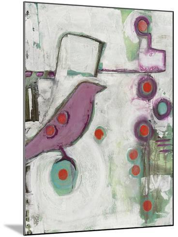 Bird on an Abstract-Blenda Tyvoll-Mounted Giclee Print