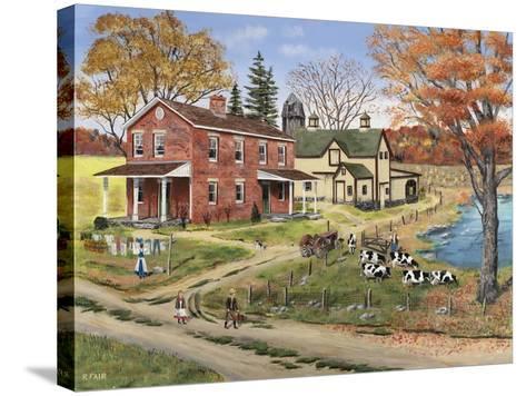 Off to School-Bob Fair-Stretched Canvas Print