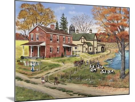 Off to School-Bob Fair-Mounted Giclee Print