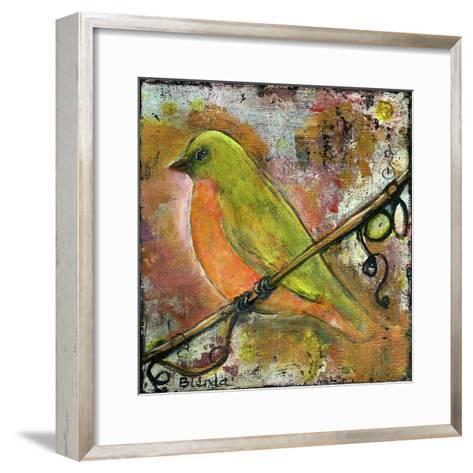Peridot Bird-Blenda Tyvoll-Framed Art Print