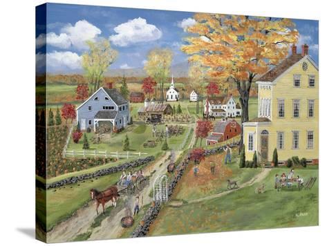 Autumn Chores-Bob Fair-Stretched Canvas Print