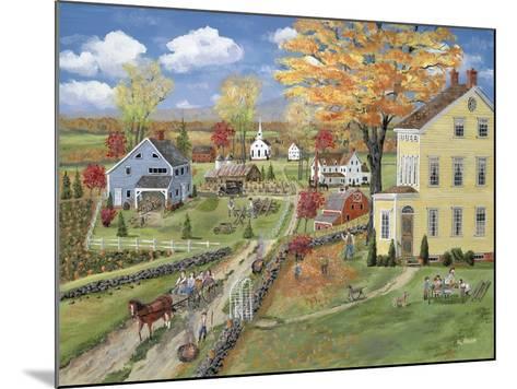 Autumn Chores-Bob Fair-Mounted Giclee Print