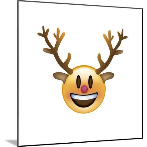Emoji Big Smile Reindeer-Ali Lynne-Mounted Giclee Print
