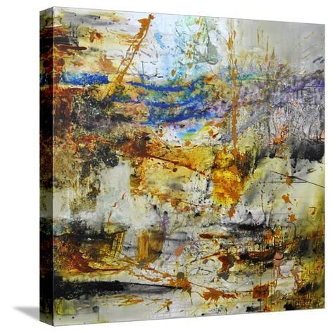 Blue Rising-Aleta Pippin-Stretched Canvas Print