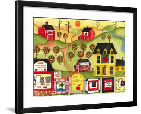 Apples Quilts 4 Sale-Cheryl Bartley-Framed Art Print