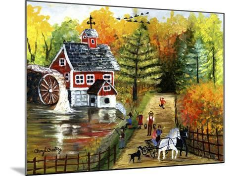 Fishing by the Old Grist Mill-Cheryl Bartley-Mounted Giclee Print