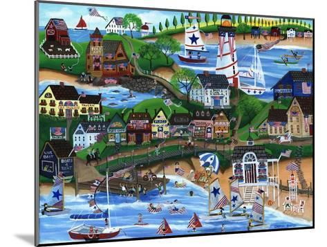 Old New England Seaside 4th of July Celebration-Cheryl Bartley-Mounted Giclee Print