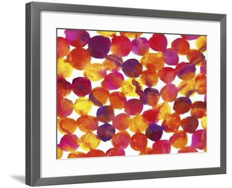 Warm Colors Abstract Flowing Paint Pattern 1-Amy Vangsgard-Framed Art Print