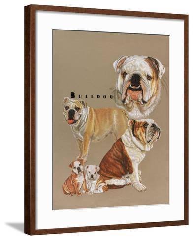 Bulldog-Barbara Keith-Framed Art Print