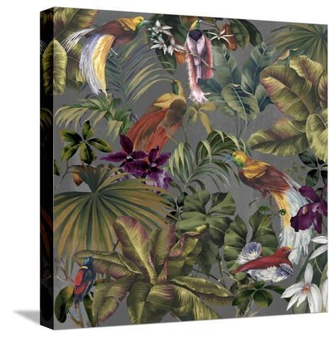 Bird Paradise Neutral-Bill Jackson-Stretched Canvas Print