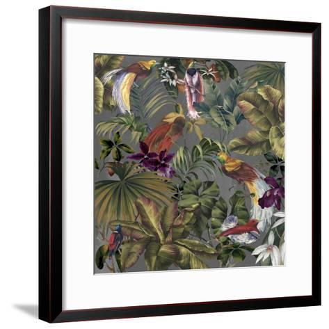 Bird Paradise Neutral-Bill Jackson-Framed Art Print