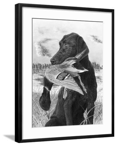 Man's Best Friend-Chuck Black-Framed Art Print