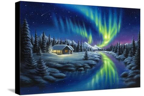 Make a Wish-Chuck Black-Stretched Canvas Print