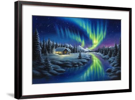 Make a Wish-Chuck Black-Framed Art Print