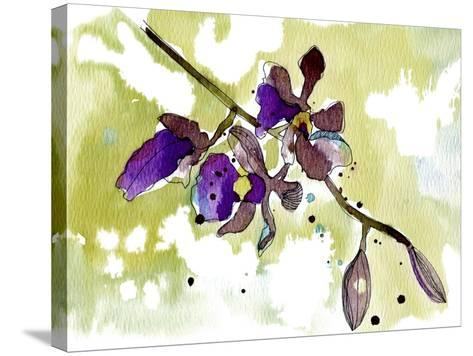 Purple Orchids-Cayena Blanca-Stretched Canvas Print