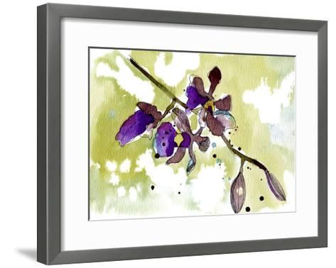 Purple Orchids-Cayena Blanca-Framed Art Print
