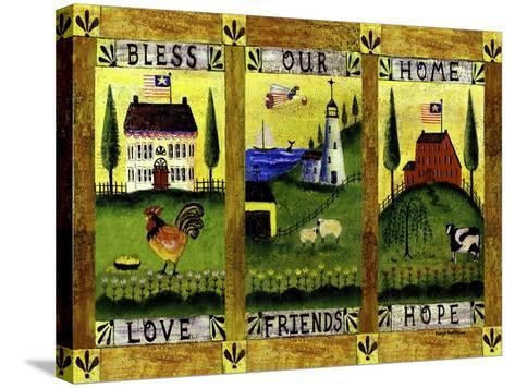 Bless our Home Love Friends Hope Lang-Cheryl Bartley-Stretched Canvas Print