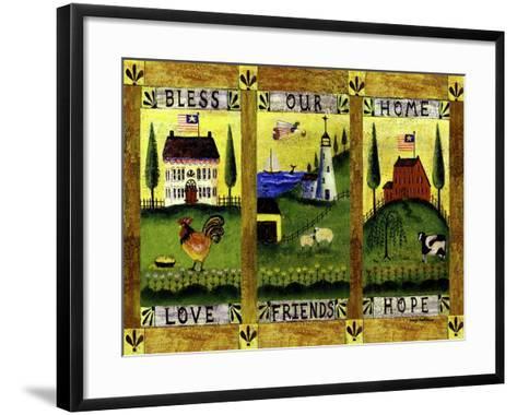 Bless our Home Love Friends Hope Lang-Cheryl Bartley-Framed Art Print