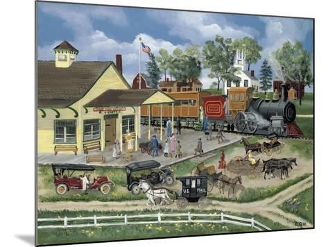 Train Station-Bob Fair-Mounted Giclee Print