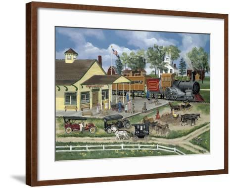 Train Station-Bob Fair-Framed Art Print
