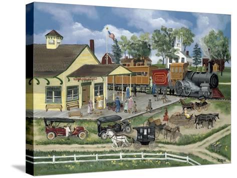 Train Station-Bob Fair-Stretched Canvas Print