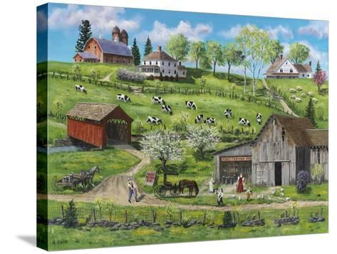 Buttermilk Farm-Bob Fair-Stretched Canvas Print