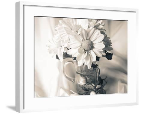 Summer Mums BW-Bob Rouse-Framed Art Print