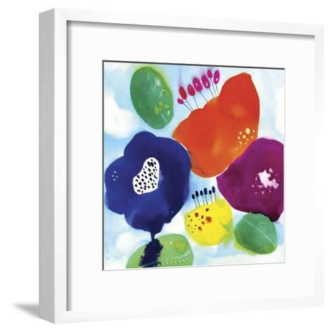 Big Water Flowers-Cayena Blanca-Framed Art Print