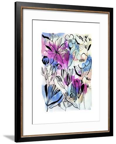 Flowers at Night-Cayena Blanca-Framed Art Print