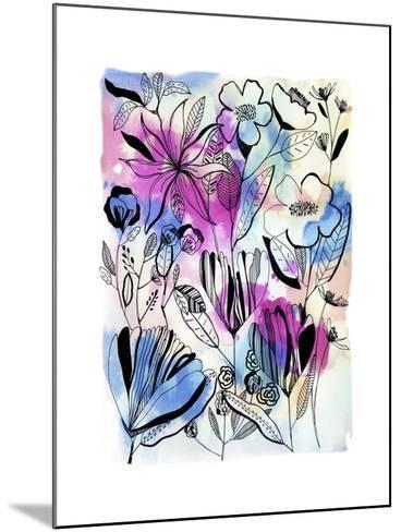 Flowers at Night-Cayena Blanca-Mounted Giclee Print