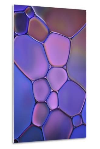 Purple Stained Glass-Cora Niele-Metal Print